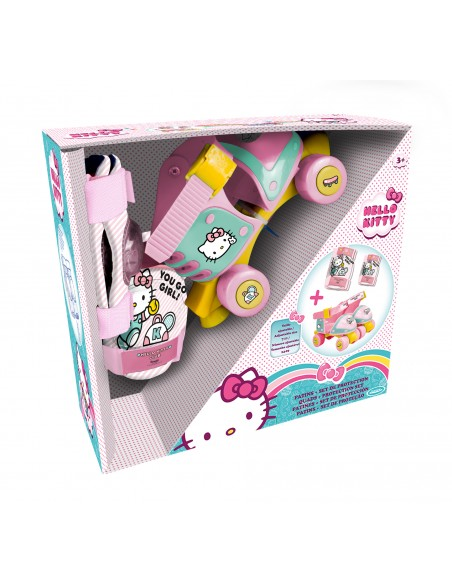 HELLO KITTY - BOITE + PATINS + PROTECTIONS