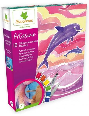 SYCOMORE - AQUARELLE DAUPHINS - ARTISSIMO GRAND MODELE