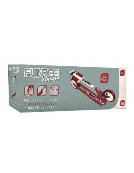 FUNBEE - TROTTINETTE 2 ROUES VINTAGE 145 MM STREET - ROUGE